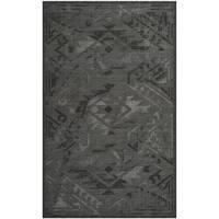 Safavieh Palazzo Black/ Grey Vintage Chenille Area Rug - 5' x 8'
