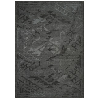 Safavieh Palazzo Black/ Grey Over-dyed Chenille Rug (8' x 10')