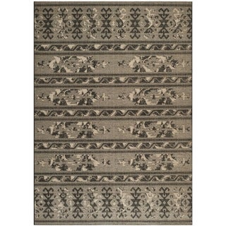 Safavieh Palazzo Black/ Beige Over Dyed Chenille Rug (5u0027 X ...