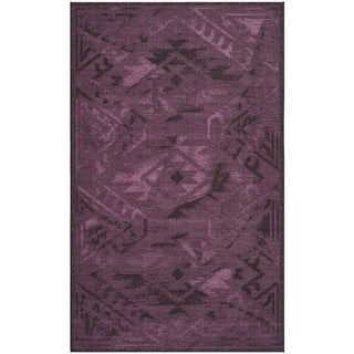 Safavieh Palazzo Black/ Purple Over-dyed Chenille Rug (8' x 11')