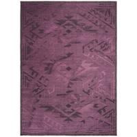 Safavieh Palazzo Black/ Purple Overdyed Chenille Area Rug - 8' X 11'