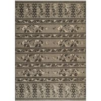 Safavieh Palazzo Black/ Beige Rustic Abstract Chenille Area Rug - 8' x 11'