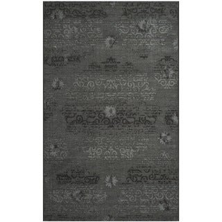 Safavieh Palazzo Black/Grey Over-Dyed Chenille Area Rug (4' x 6')