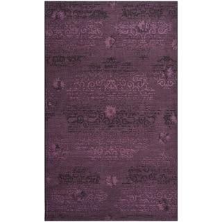 Safavieh Palazzo Black/Purple Oriental Over-Dyed Chenille Rug (4' x 6')