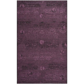 Safavieh Palazzo Transitional Black/Purple Overdyed Chenille Rug (5' x 8')