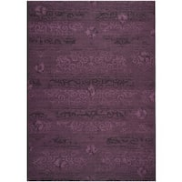 Safavieh Palazzo Black/ Purple Overdyed Chenille Area Rug (8' x 11')