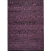 Safavieh Palazzo Black/ Purple Overdyed Chenille Area Rug - 8' x 11'