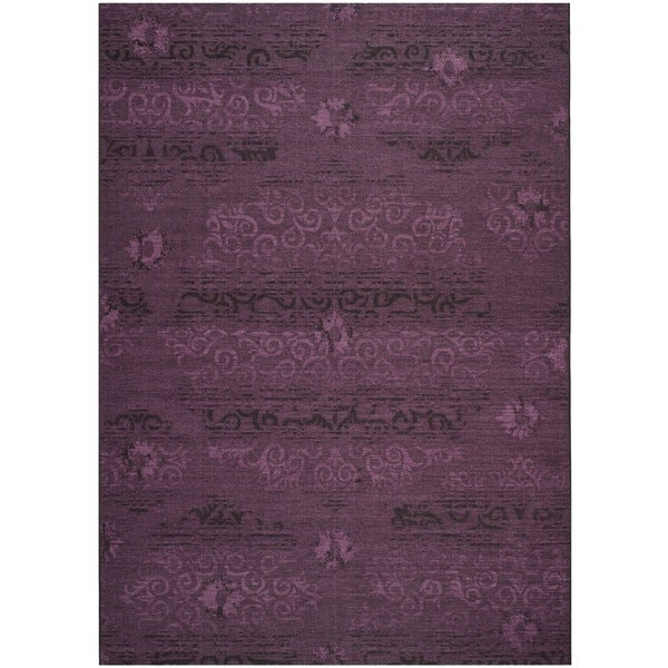 Walmart Purple Rug: Safavieh Palazzo Black/ Purple Overdyed Chenille Area Rug