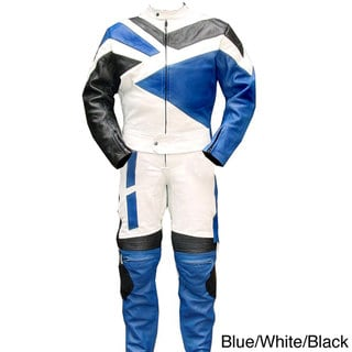 2-piece Motorcycle Riding Racing Track Suit/ Padding All Leather Drag Suit