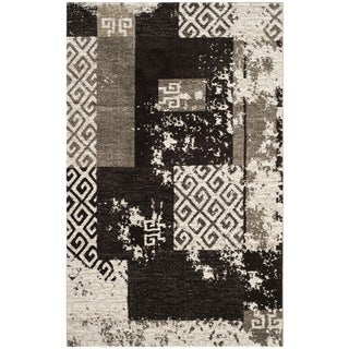 Safavieh Retro Modern Abstract Cream/ Brown Distressed Rug (5' x 8')