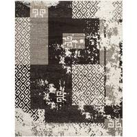 Safavieh Retro Modern Abstract Cream/ Brown Distressed Rug - 8' x 10'