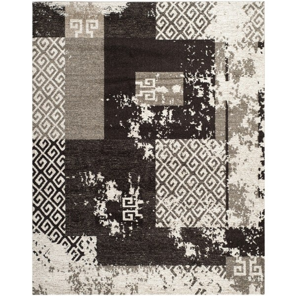 Safavieh Retro Modern Abstract Cream/ Brown Distressed Rug - 8' x 10'