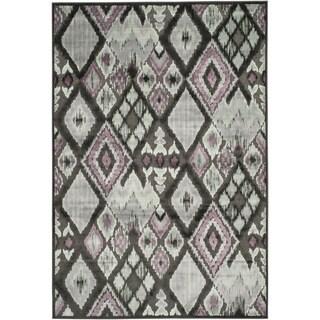 Safavieh Paradise Charcoal Grey Viscose Rug (5'3 x 7'6)