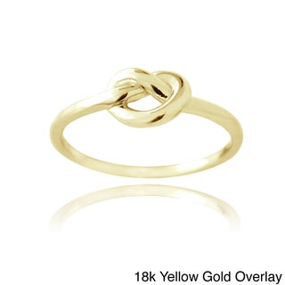 Mondevio Silver Polished Love Knot Ring (More options available)
