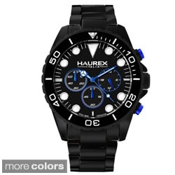 Haurex Men's 'Ink Chrono' Aluminum Chronograph Watch