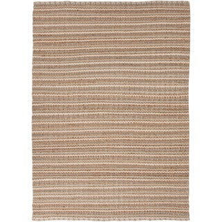 Handmade Naturals Solid Pattern Brown Rug (8' x 10')