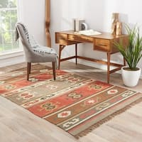 Hala Handmade Geometric Multicolor Area Rug (4' X 6') - Multi - 4' x 6'