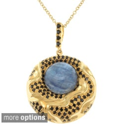 Michael Valitutti Gold or Black Rhodium over Silver Gemstone Necklace