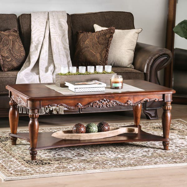 Shop Furniture Of America Rity Traditional Cherry 3 Piece Accent