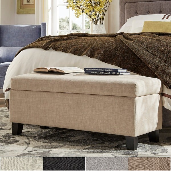 Sauganash Linen Lift Top Storage Bench by INSPIRE Q