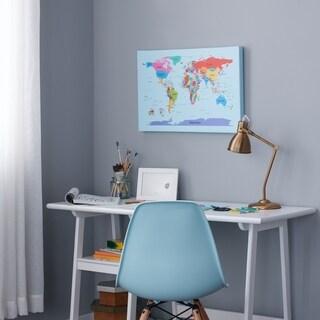 Children's Multi-colored World Map Canvas Art