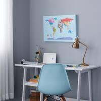 Children's Multi-colored World Map Canvas Art - Multi