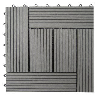 Bamboo Composite 6-slat Deck Tiles (Set of 11)