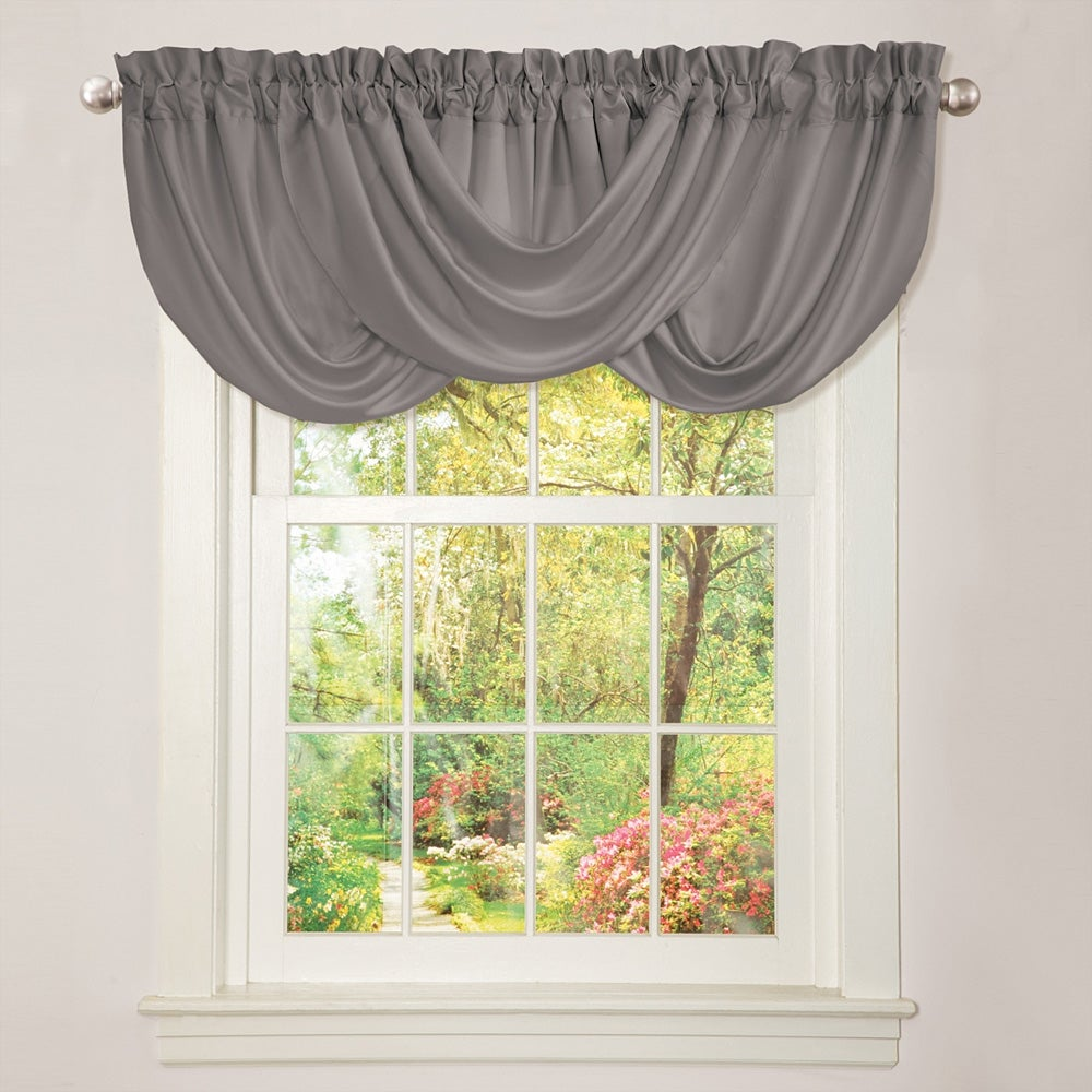 Lush Decor Lucia Grey Valance - Free Shipping On Orders Over $45 ...