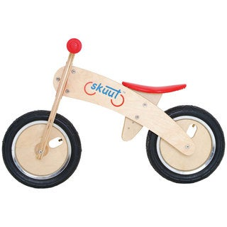 Diggin Active Red Skuut Wooden Balance Bike