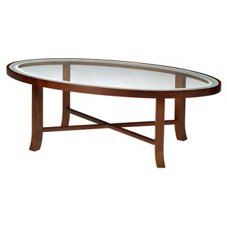 Mayline Illusion Series Glass Top Coffee Table