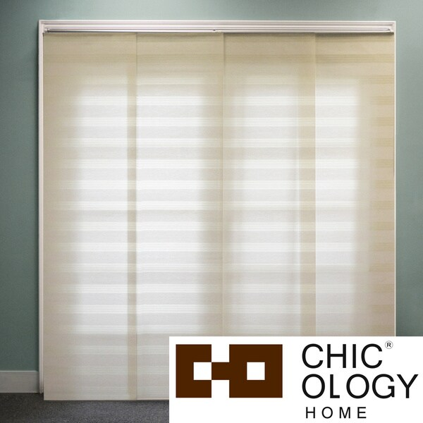 Chicology Exclusive Basket Wheat Double Rail Sliding Window Panels