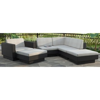 Sonax PPT-303-Z Park Terrace Textured Black 6-piece Sectional Patio Set