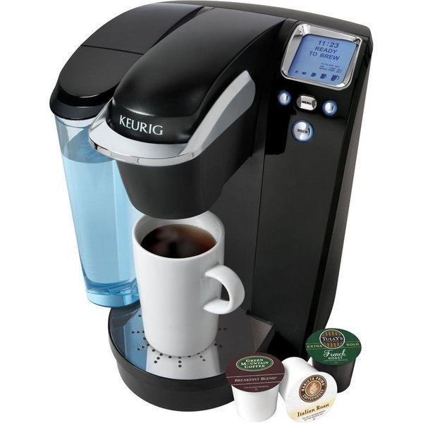 Keurig K75 Black Platinum Brewing System with 12-pack K-cups