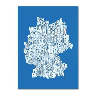 Michael Tompsett 'Germany Regions Map in Summer' Canvas Art