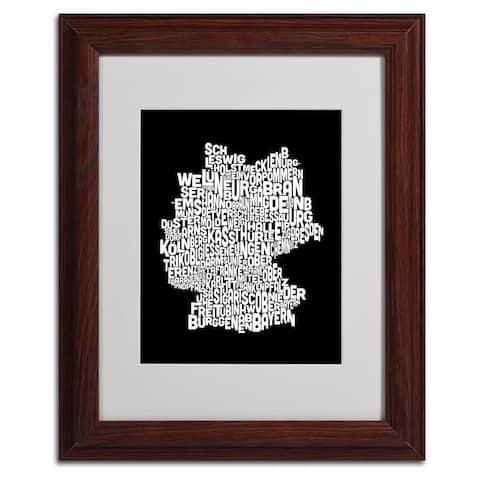 Michael Tompsett 'Germany Regions Map' Matted Framed Art