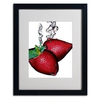 Roderick Stevens 'Strawberry Splash II' Framed Matted Art