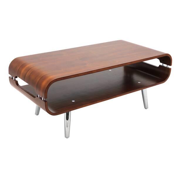 Vers Walnut Bent Wood Coffee Table Free Shipping