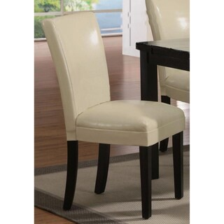 Kedem Bi-cast Leather Parson Chair (Set of 2)