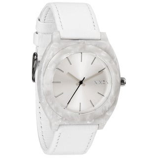 Nixon Women's 'Time Teller' Leather Strap Watch (Option: White)