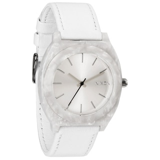 Nixon Women's 'Time Teller' Leather Strap Watch