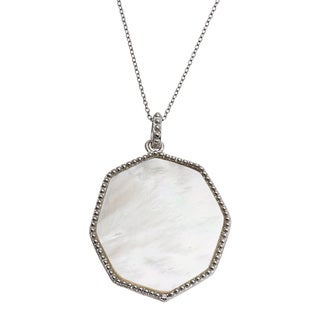 La Preciosa Sterling Silver Mother of Pearl Necklace
