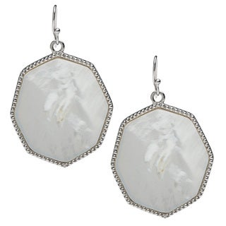 La Preciosa Sterling Silver Mother of Pearl Dangle Earrings