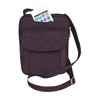 Travelon Anti-Theft Signature Slim Pouch Crossbody Messenger Bag