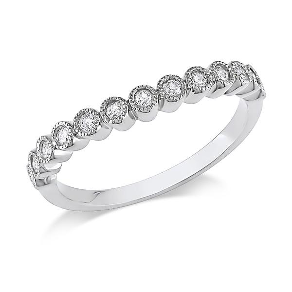 Miadora 10k White Gold 1/4ct TDW Vintage Diamond Ring (H-I, I2-I3)
