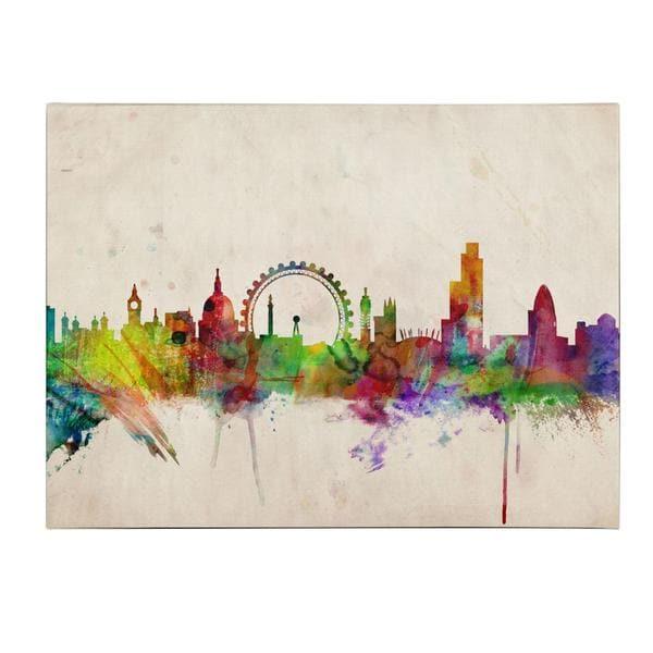 New York Nyc Skyline City Single Canvas Wall Art Picture: Michael Tompsett 'London Skyline' Canvas Art