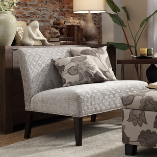 Wicker Park Grey Link Armless Loveseat by INSPIRE Q