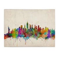 Michael Tompsett 'New York Skyline' Canvas Art - Multi