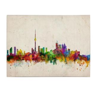 Michael Tompsett 'Toronto Skyline' Canvas Art