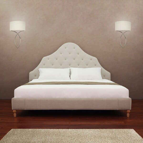 Shop Alice Button Tufted King Size Bed Free Shipping