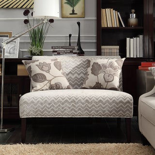 Wicker Park Grey Chevron Armless Loveseat by INSPIRE Q